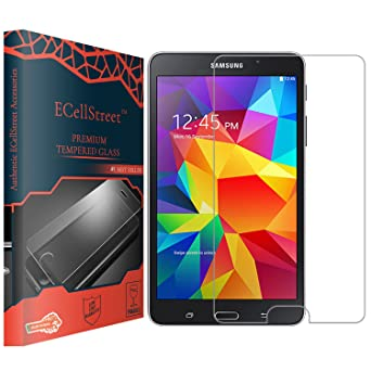 ECellStreet Tempered Glass 0.3mm Toughened Glass Screen Protector for Samsung Galaxy Tab 4 7.0 T230 / T231 Screen guards