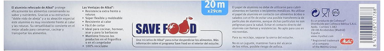 Albal - Papel aluminio albal 20 m - [Pack de 5]: Amazon.es: Salud y cuidado personal