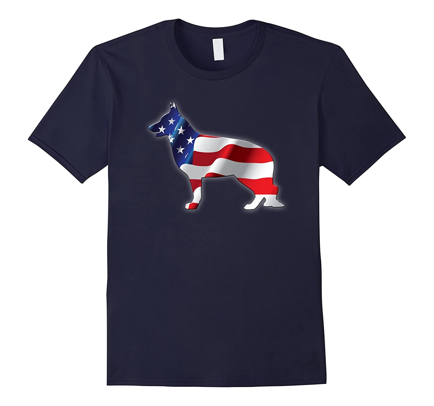 4th of July T-shirt GERMAN SHEPARD for all Dog Lovers-PL