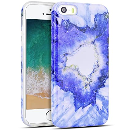 MoEvn Funda para iPhone 5S / SE / 5, Mármol Suave Silicona Carcasa iPhone 5S Flexible Goma Gel Protectora Caso iPhone SE Fina Protector Bumper Tapa ...