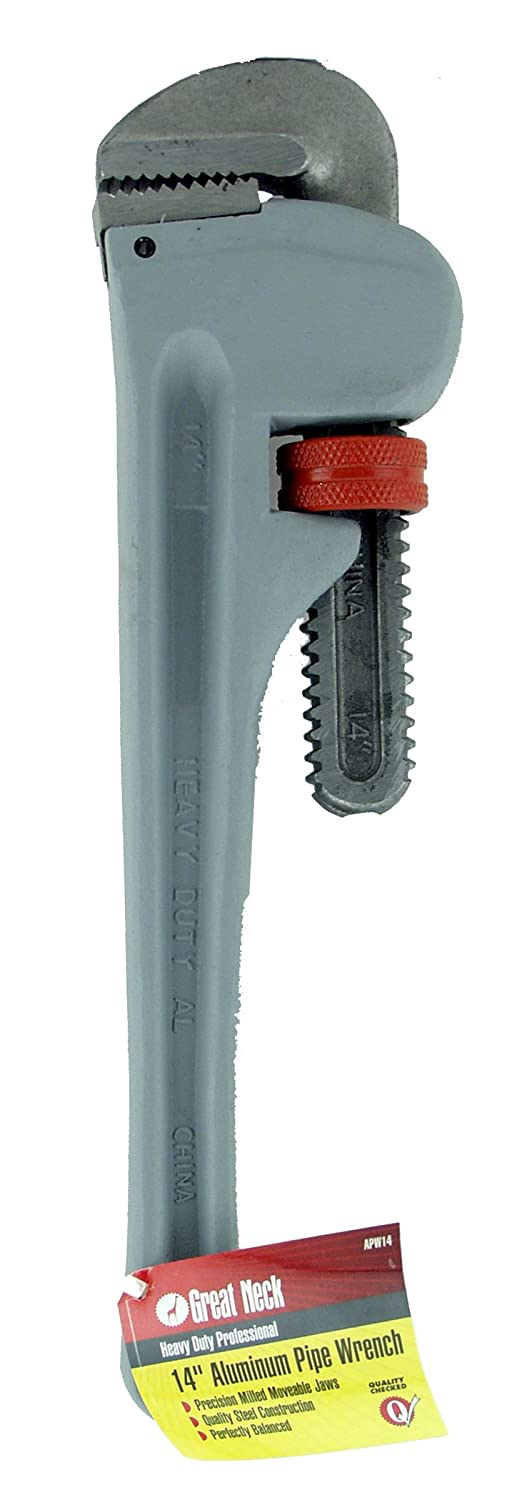 GreatNeck APW14 Aluminum Pipe Wrench 14 Inch
