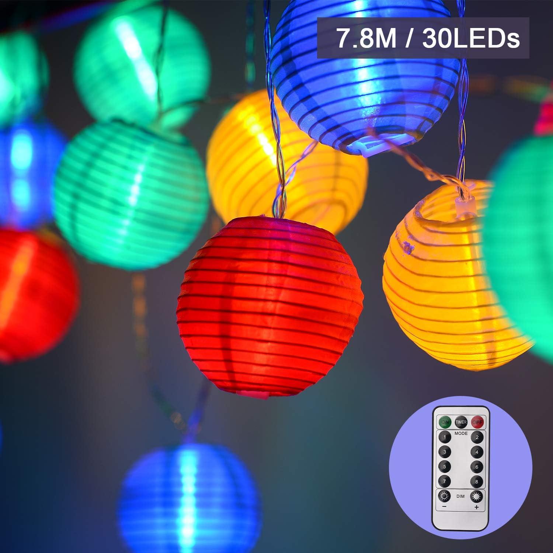 3x Lampe Solaire DEL Lampion blanc 30 cm Outdoor Mariage Jardin Décoration Fête Lanterne