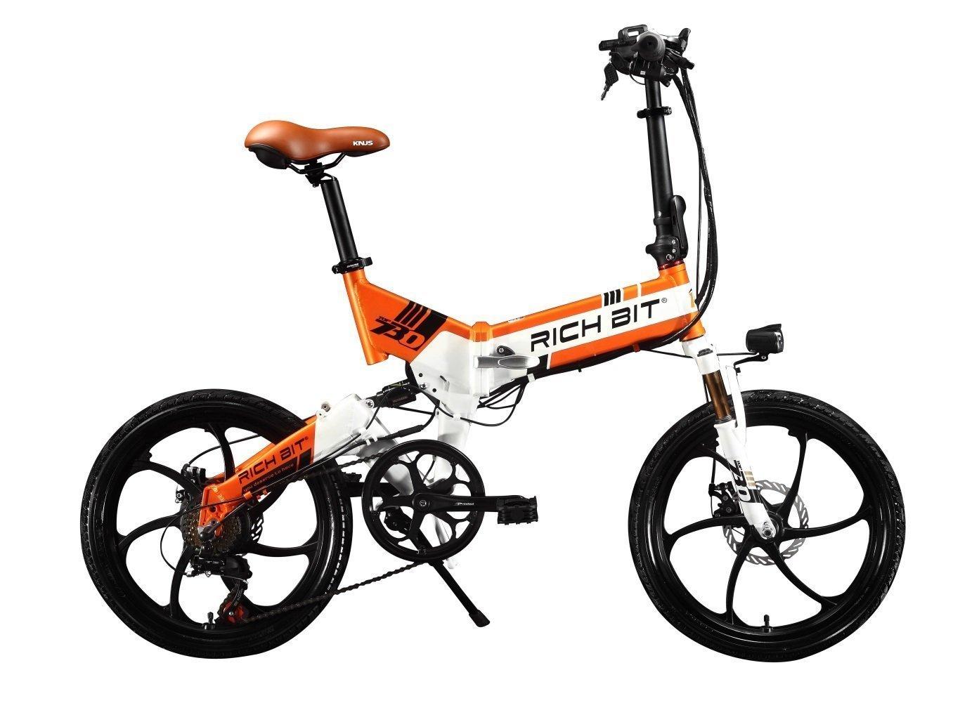 2018年モデル 20インチ 電動アシスト自転車 折り畳む 48V/8Ahバッテリー 専用充電器付 B0797RNF3B オレンジ オレンジ