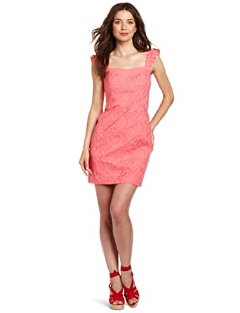 2c70cd52f84be Lilly Pulitzer Women's Sarafina Dress, Pink Salmon A Dollop Of Scallop  Eyelet, ...