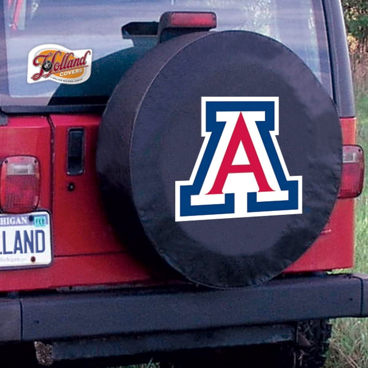 Arizona Wildcats HBS Black Vinyl Fitted Spare Car Tire Cover Holland Bar Stool Co
