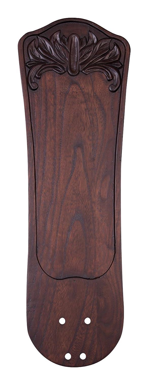 Emerson Ceiling Fans B97DWA 25-Inch Hand Carved Ornate Indoor-Outdoor Ceiling Fan Blades, Dark Walnut, Damp Location, Set of 5 Blades Emerson Fans