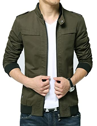 Kjdshwa Men's Casual Wear Cotton Lightweight Jacket at Amazon ...