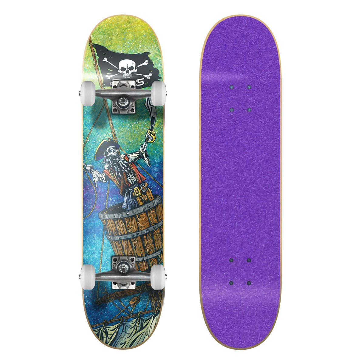 2019激安通販 SkateXS ビギナー 海賊 ストリート/ Tape スケートボード 5-7)|Purple B01NBGNO8O 7.0 x 28 (Ages 5-7)|Purple Grip Tape/ White Wheels Purple Grip Tape/ White Wheels 7.0 x 28 (Ages 5-7), リブレイン:a93fa50f --- a0267596.xsph.ru