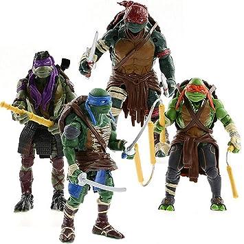 MALUNGMA Ninja Turtles 4 PSC Set - Teenage Mutant Ninja Turtle TMNT Action Figures - Michelangelo Leonardo Raphael Donatello