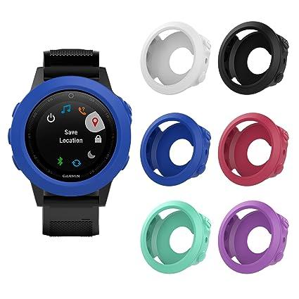 MoKo Case for Garmin Fenix 5S/5S Plus Watch, [6 PACK] Soft