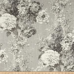 Waverly Ballad Bouquet Blend Platinum Linen, Fabric by the Yard
