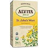 Alvita Organic St. Johns Wort Herbal Tea - Made with Premium Quality Organic St. Johns Wort Flowers, And Unique Earthy Flavor