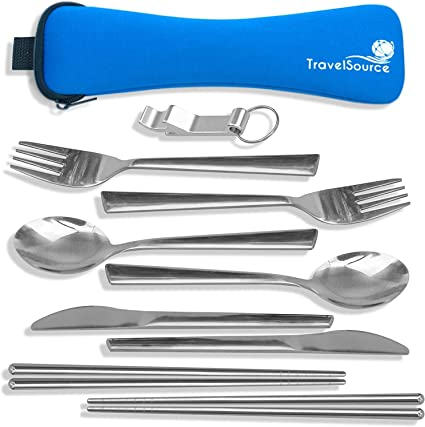 Camping Hiking Cookware Portable Kitchen Utensil Set 27-Piece Stainless Steel Ou