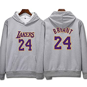 L.A Lakers Kobe Bryant #24 Sudadera con capucha Hombres Jóvenes Name & Number Deportes Baloncesto