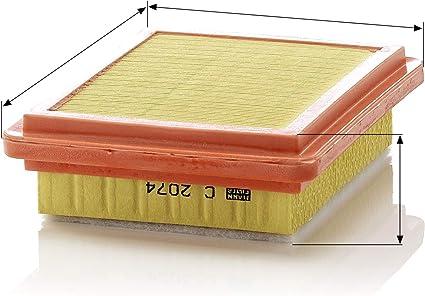 Original Mann Filter Luftfilter C 2074 Für Pkw Auto