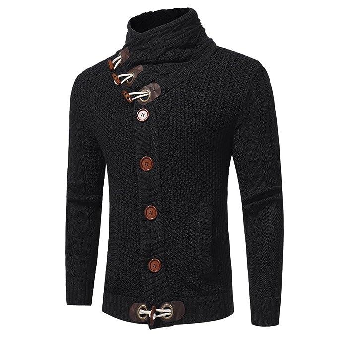 Chaqueta de Punto de Hombre Amlaiworld Hombres Otoño Invierno Casual Suéter Cardigan Abrigo Tejer Suéter Abrigos suéter Pullover Camiseta Blusa: Amazon.es: ...