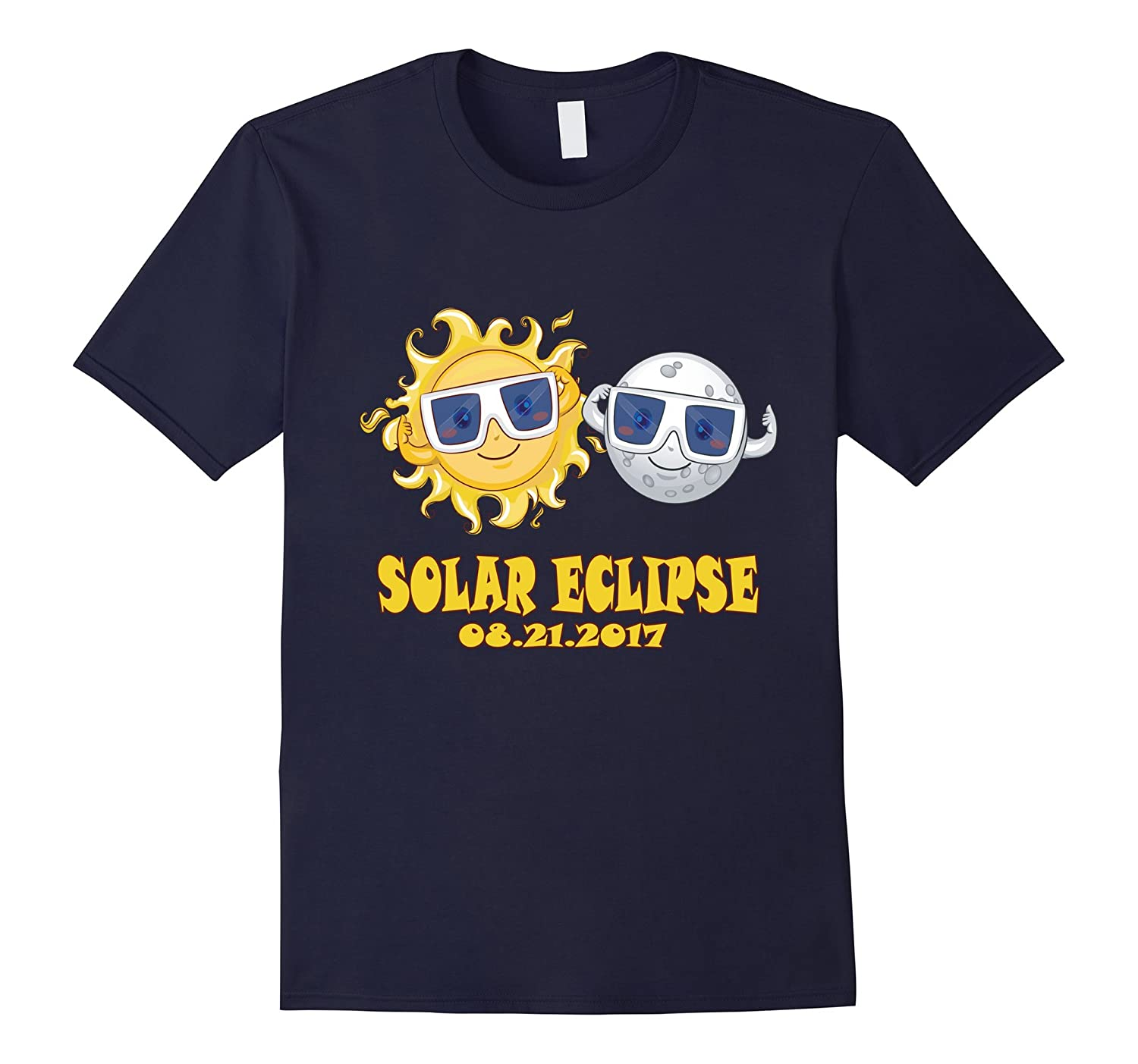 2017 Solar Eclipse Tee - Kids Cartoon Emoji Shirt-BN