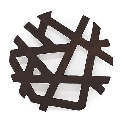 Sottopentola asimmetrica in legno, sottobicchiere per teiera ...
