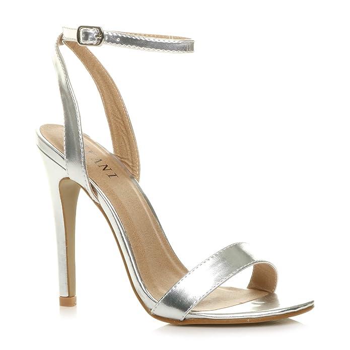 Donna alto tacco partito quasi lì fibbia con cinturino sandali scarpe  numero  Amazon.it  Scarpe e borse 84358dfd040