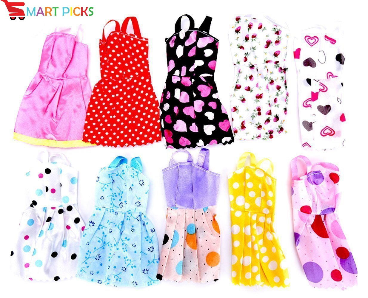 Handmade Party Dress Fashion Clothes for Doll – 10 pieces