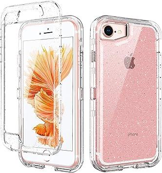 BENTOBEN Funda iPhone 7 Silicona Funda iPhone 8 3 en 1 Carcasa