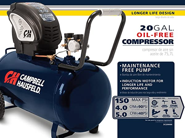 Campbell Hausfeld DC200000 is one of the best 20 gallon air compressor on the market