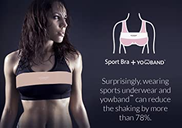 bbcb68f5941d2 Amazon.com  YOWBAND No-Bounce High-Impact Adjustable Breast Support  Band-Extra Sports Bra Alternative  Sports   Outdoors
