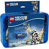 LEGO Nexo Knights Sorting Box, Storage Case / Container with Compartments, Translucent Blue