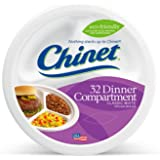 Chinet Classic White Compartment Plate, White, 10-3/8 Inch, 32 Count