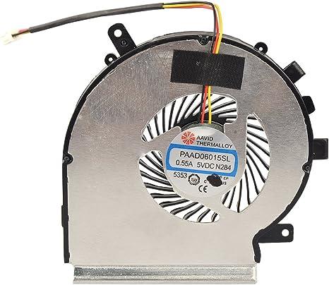 Eathtek de CPU ventilador de refrigeración para MSI GE62 2QD ...