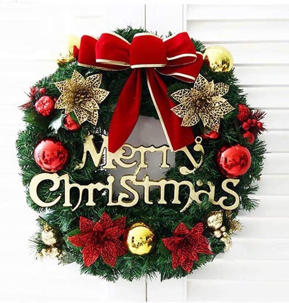 DECORACIONES DE NAVIDAD DE NAVIDAD Decoraciones de guirnaldas navideñas Anillo de velas Guirnalda de abeto, guirnalda festiva Decoración navideña espolvoreada Decoraciones de interior al aire libre: Amazon.es: Hogar
