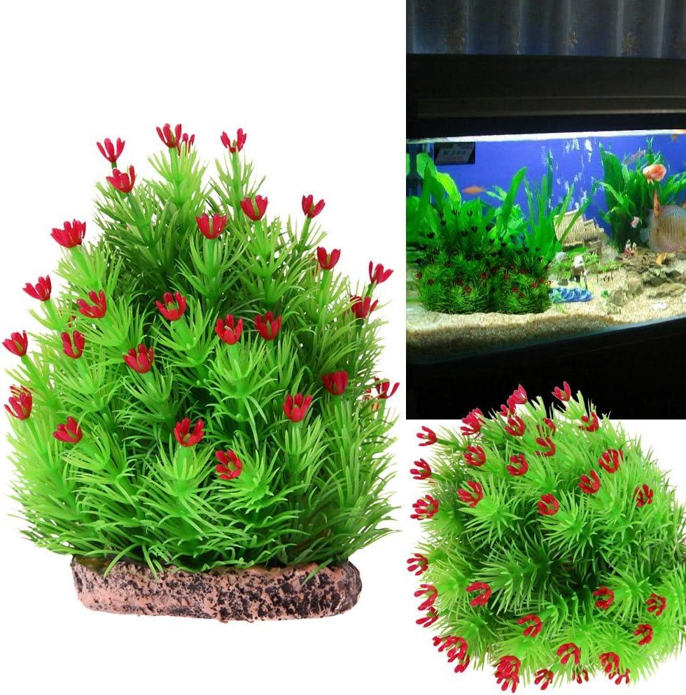 Kangsanli Artificial Green Christmas Tree Ornaments Underwater Aquarium Landscape Background Decorations Fish Tank Decor Accessories Ornaments Pet Supplies