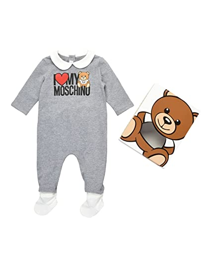 3b6d12286400a Moschino Baby Girls  Romper Grey Grey  Amazon.co.uk  Clothing