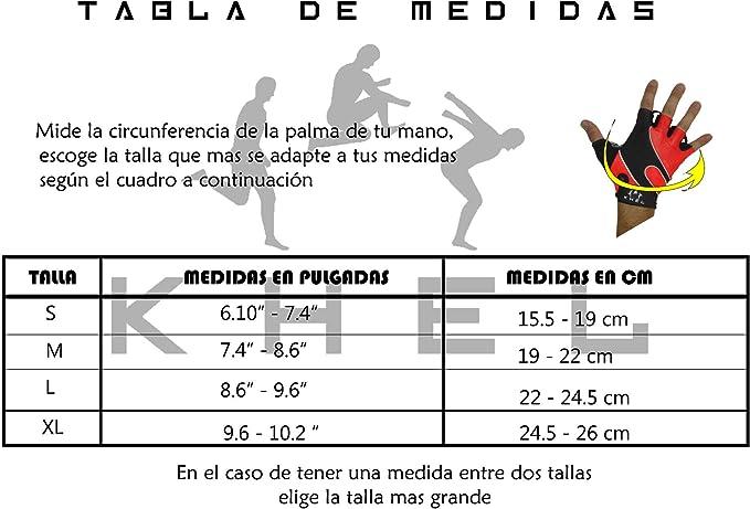 KHEL Guantes Ciclismo Cortos Bicicleta Spinning - Incluye Bolsa de ...