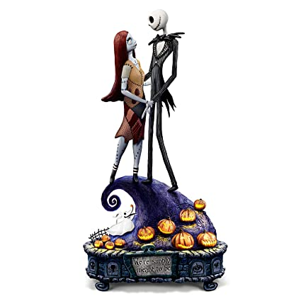 the nightmare before christmas simply meant to be jack and sally musical figurine by the bradford