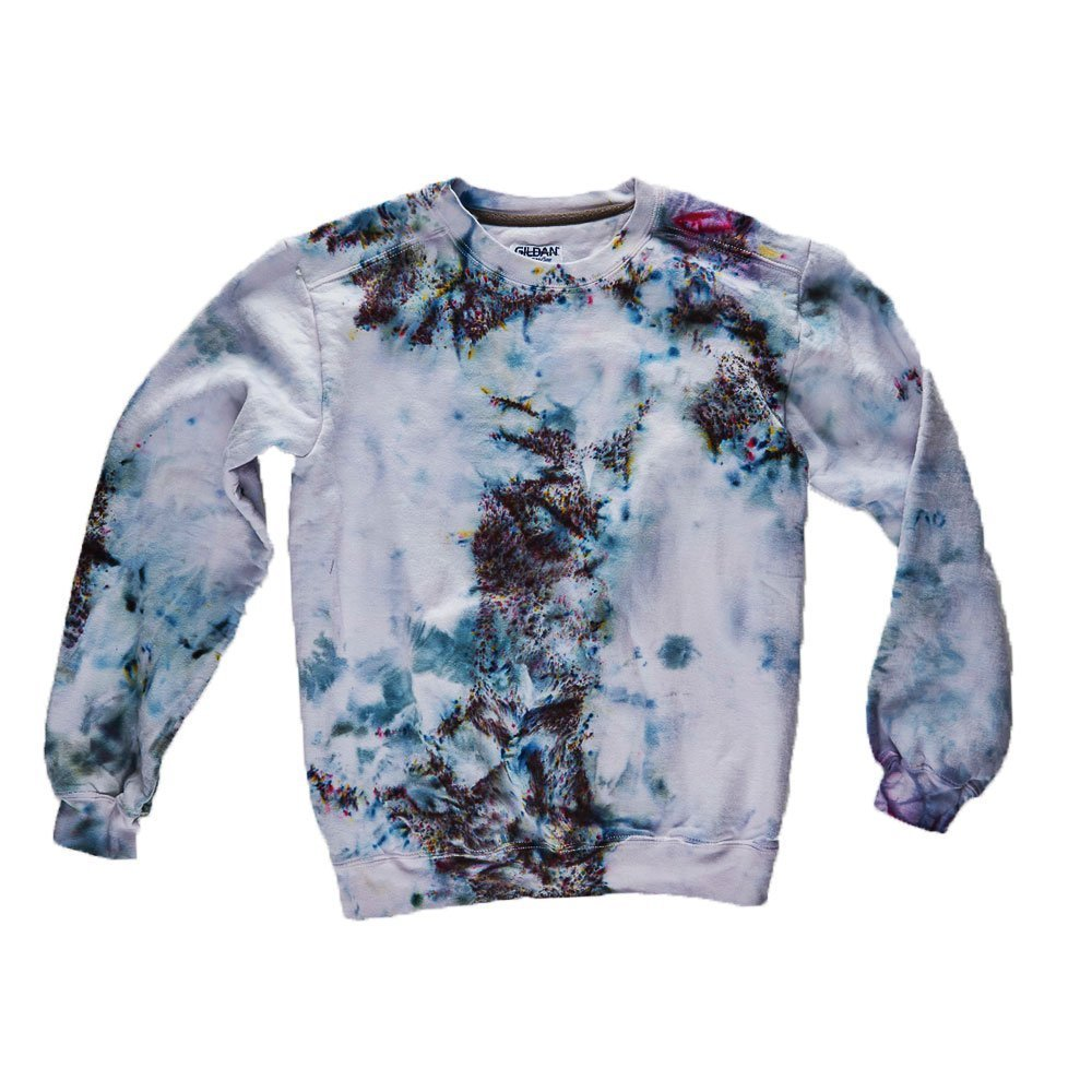 Confetti Tie Dye Sweatshirt Unisex Festival Hoodie Grateful dead Plus Size S, M, L, XL, XXL by Masha Apparel