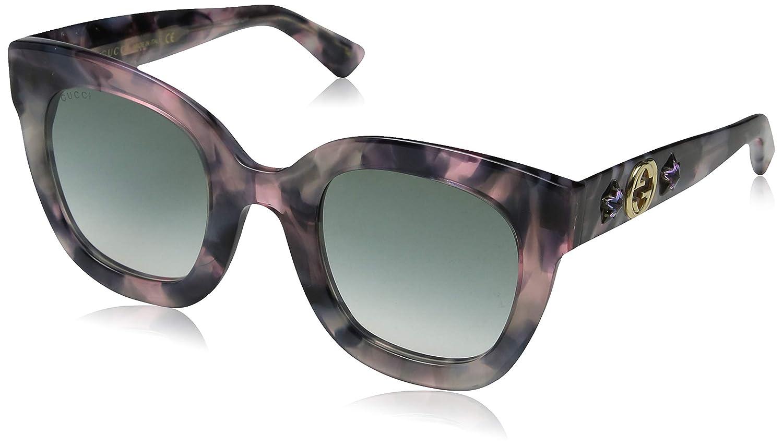 e75ad713847 Amazon.com  Gucci GG 0208S 003 Havana Plastic Fashion Sunglasses Brown  Gradient Lens  Clothing