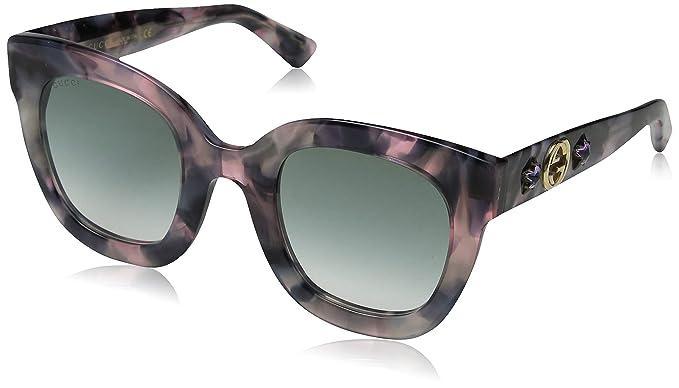 Gucci GG0208S 004 Gafas de sol, Marrón (4/Grey), 49 para ...