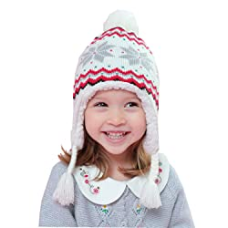 Home Prefer Kids Baby Toddler Girls Winter Hat Warm Knit Beanie Earflap Hat