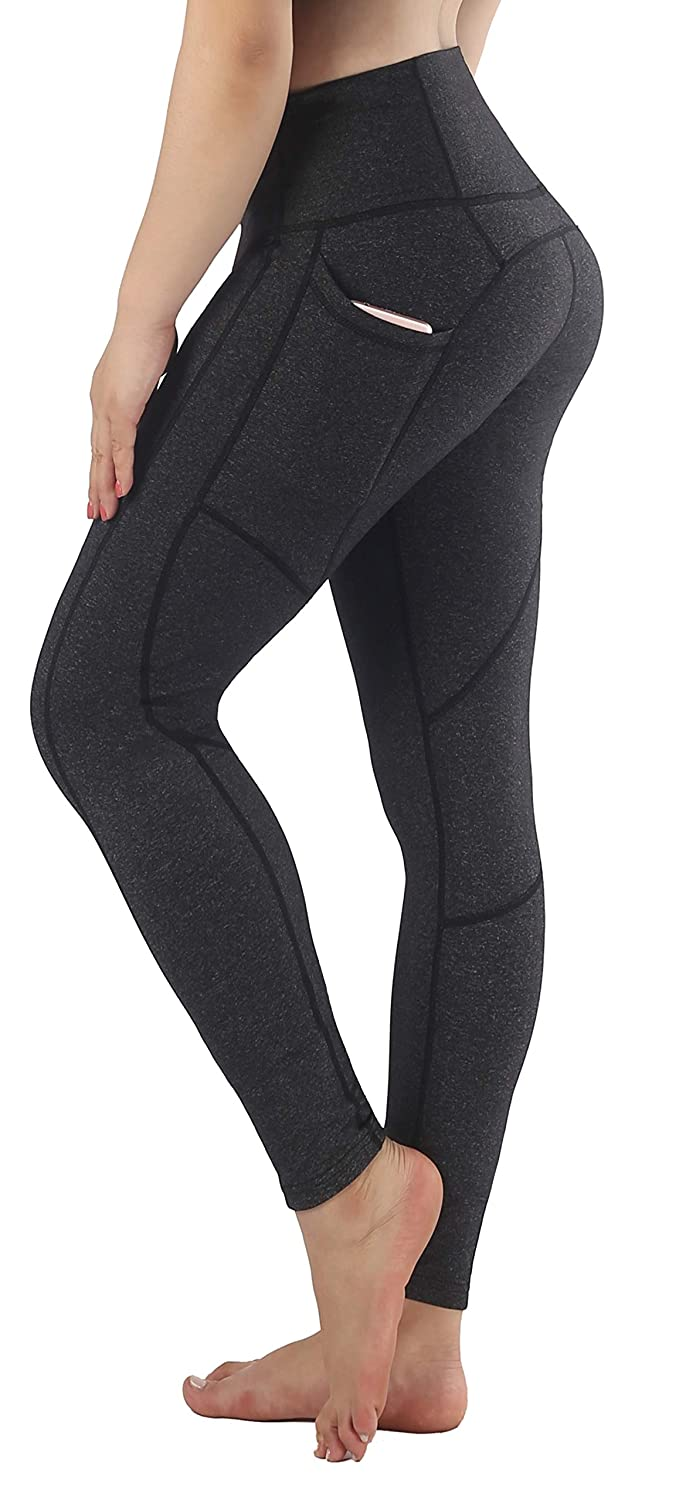 Grey1(ankle) Small Sugar Pocket Women's Workout Leggings Running Tights Yoga Pants Red