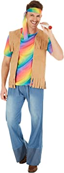 Disfraz de Hippie Peace para Hombre | Camiseta Muy Alegre y ...