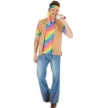 b3a6ed5b5 Disfraz de Hippie Peace para Hombre | Camiseta muy alegre y colorida ...