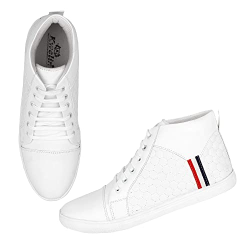 White High Ankle Sneakers for Men