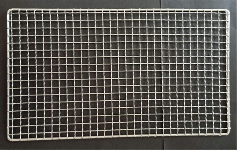 304 Barbecue in Acciaio Inossidabile Mat Rete Grid Quadrato Rettangolo Grill Grigliate Rete Metallica Rete Cucina All'aperto Accessori for Barbecue (Color : 25x15cm) 30x30cm
