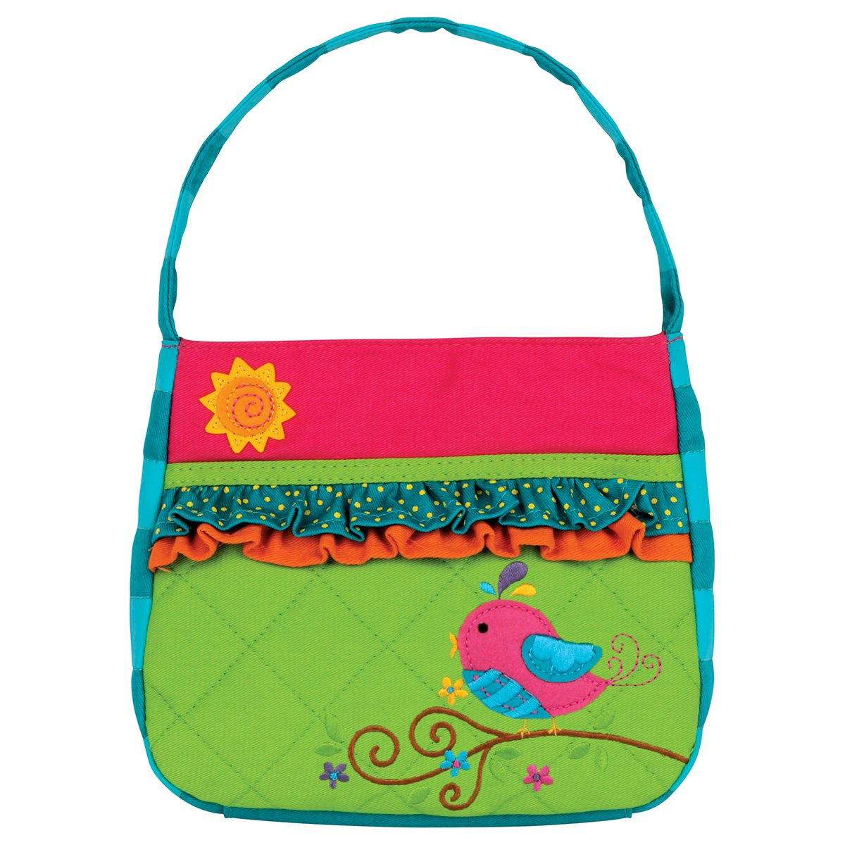Stephen Joseph Girls Quilted Song Bird Purse and Wallet with Charm by Stephen Joseph (Image #2)