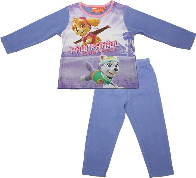 Paw Patrol - Pijama - para niña Morado morado 3 años