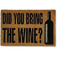 KOKO DOORMATS felpudos Entrada casa Originales, Fibra de Coco y PVC, Felpudo Exterior Did You Bring The Wine?, 40x60x1.5…