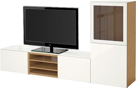 Ikea Besta Tv Effet Stockage Combinaison Portes En Verre