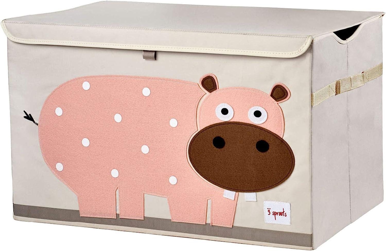 3 Sprouts Hipopótamo - Arcón juguetes, unisex