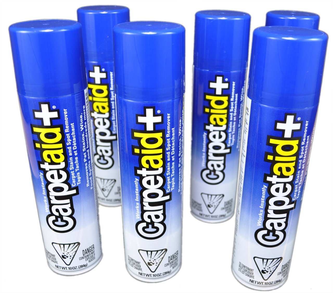 10 Oz. CarpetAid+ Carpet Stain Remover & Spot Cleaner (Pack of 6 Cans): Easily and Effectively Remove Food, Drink, Dirt, Mud, Pet, and Other Stubborn Stains Instantly; No Rubbing or Scrubbing
